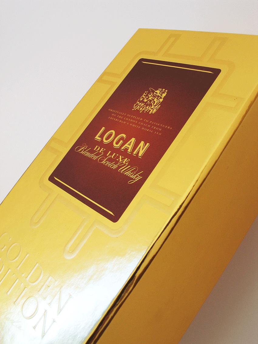 UV Artes Gráficas - detalhe-de-caixa-de-whisky-logan