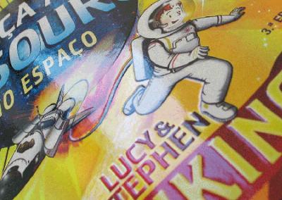 Capa de Livro Caça ao Tesouro no Espaço