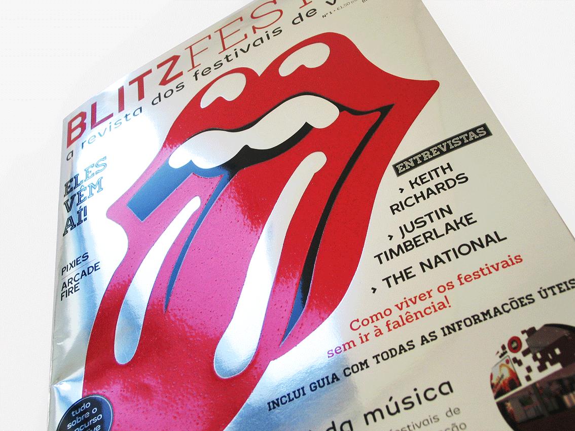 UV Artes Gráficas - Capa Revista Blitz_detalhe
