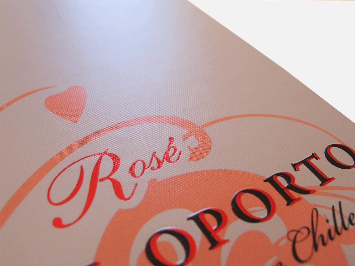 UV Artes Gráficas - Embalagem de Vinho Porto Rose_Detalhe