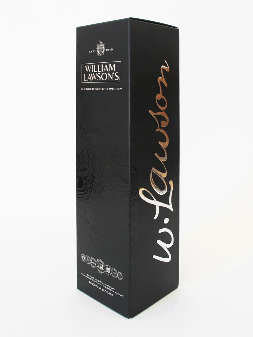 UV - Artes Gráficas - Embalagem de whisky William Lawson's
