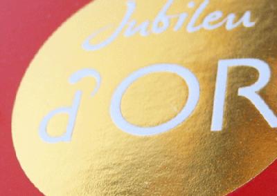 Embalagem de Produto Chocolates Jubileu