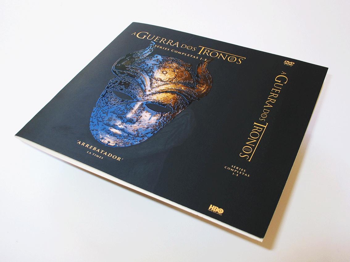 UV Artes Gráficas_Capa de Livro A Guerra dos Tronos